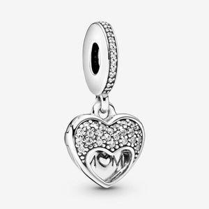 Pandora I Love My Mom Heart Dangle Charm Silver